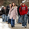 Students headed to class