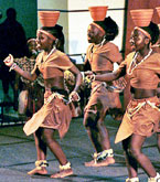 Children of Uganda perform