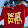 'Beat Iowa' T-shirt.