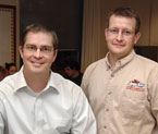 Chuck Steiner (left) and Mike Retallick