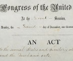 Portion of the Morrill Act