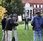 Crew shoots commercial on central campus