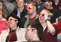 People in 3D glasses