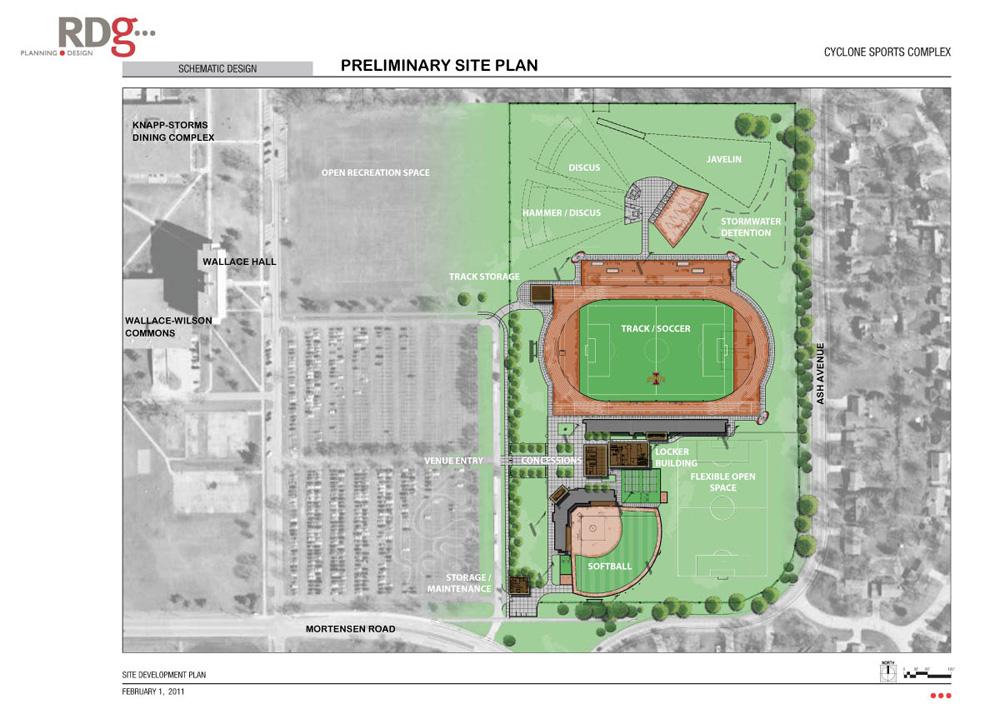 Sports Complex Schematic Iowa State